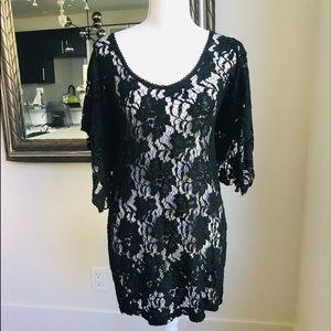 Harper Lace Batwing Dress